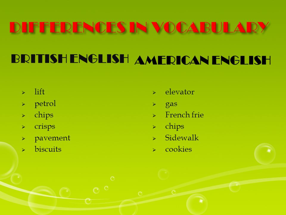 BRITISH ENGLISHAMERICAN ENGLISH - with prepositions  Stay at home.