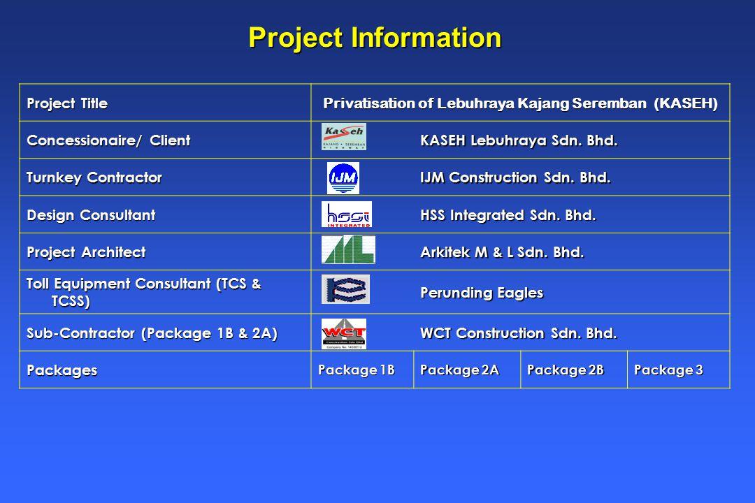 Project Title Privatisation of Lebuhraya Kajang Seremban (KASEH) Concessionaire/ Client KASEH Lebuhraya Sdn.