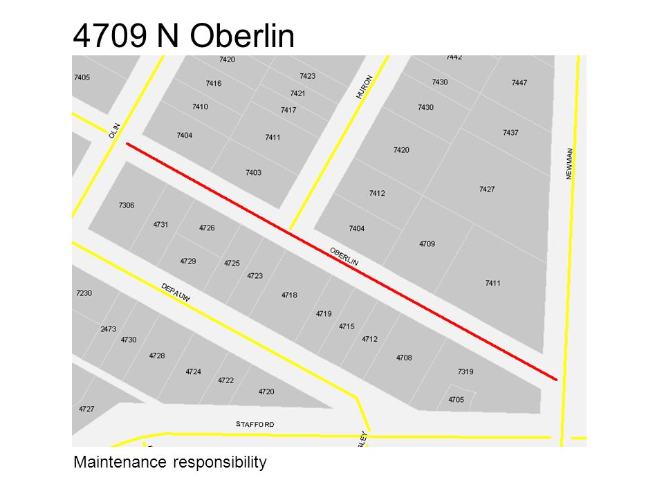 4709 N Oberlin Maintenance responsibility