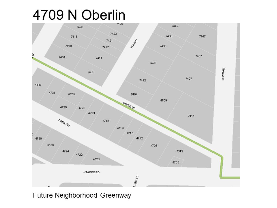 4709 N Oberlin Future Neighborhood Greenway