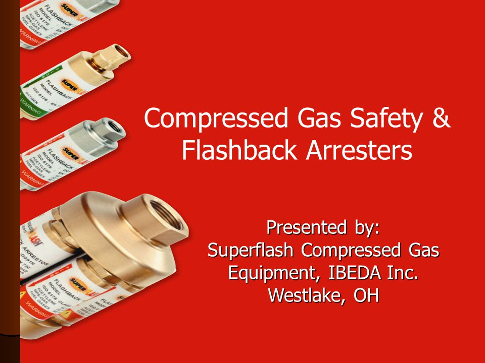 Every torch & regulator should be equipped with an approved flashback arrester