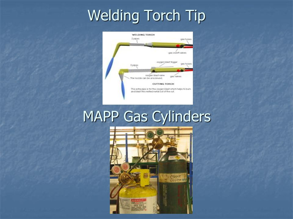 Welding Torch Tip MAPP Gas Cylinders
