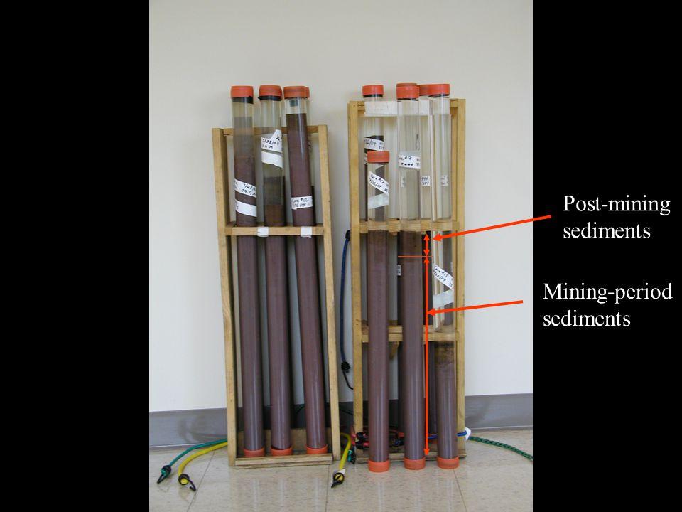 Post-mining sediments Mining-period sediments