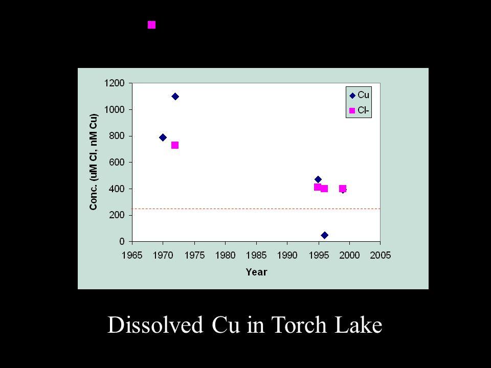 Dissolved Cu in Torch Lake