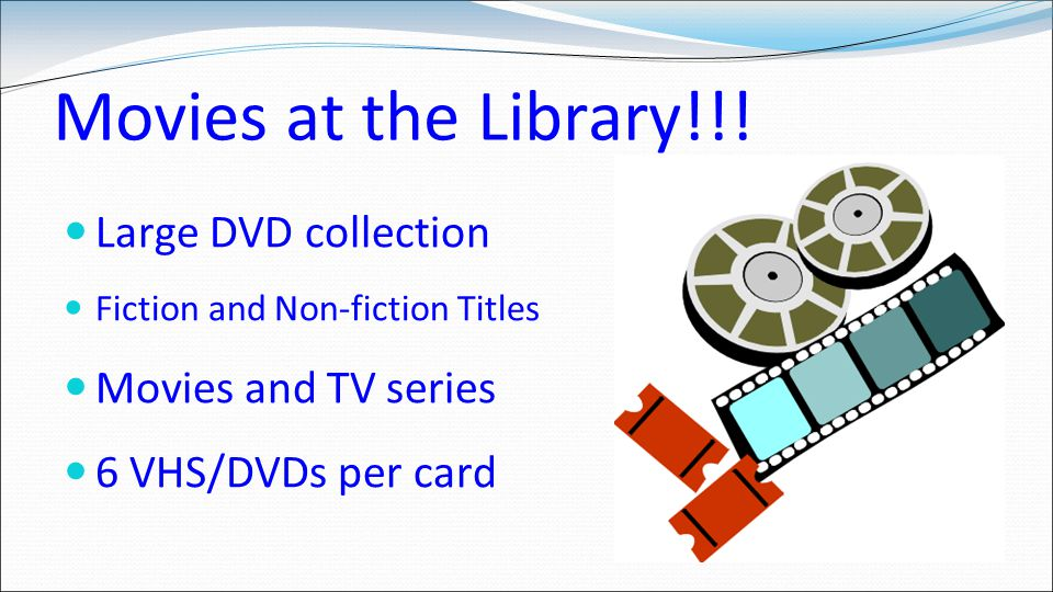 Movies at the Library!!.