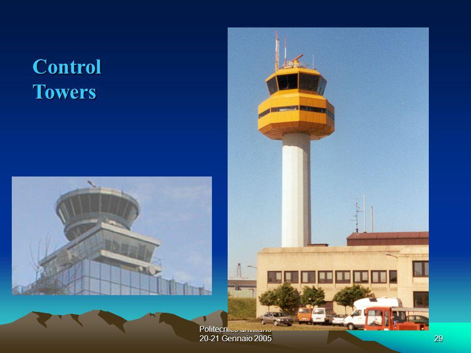 Politecnico di Milano 20-21 Gennaio 200529 Control Towers