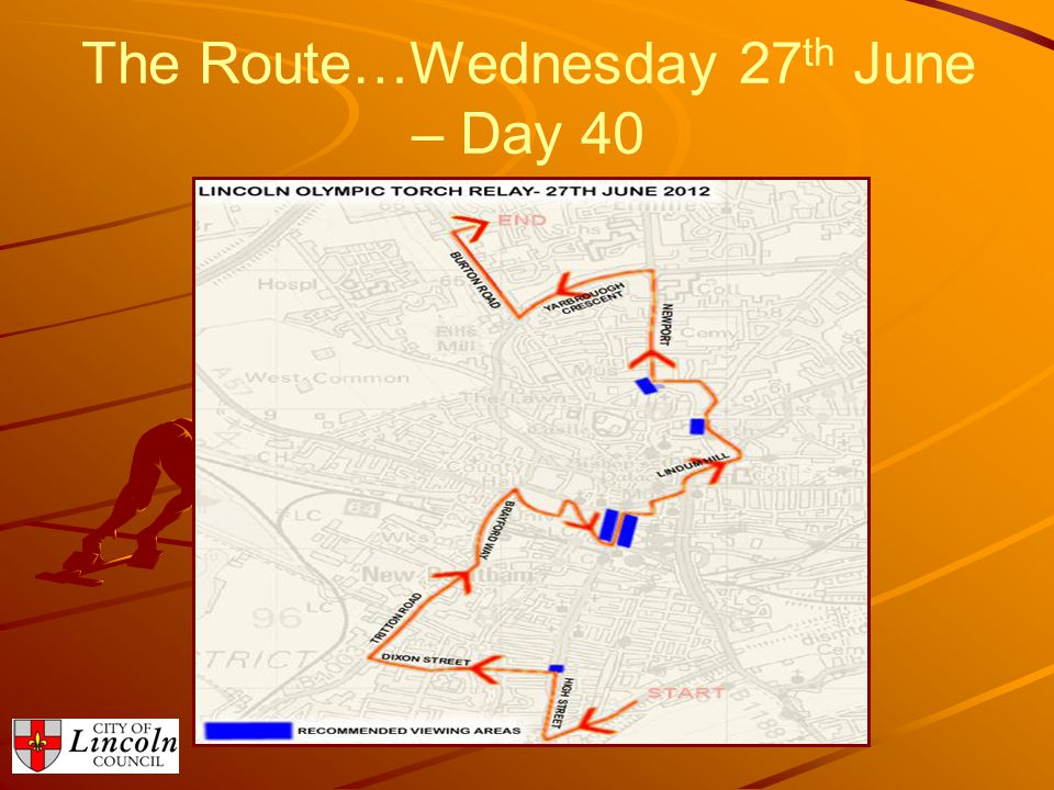 The Route…Wednesday 27 th June – Day 40