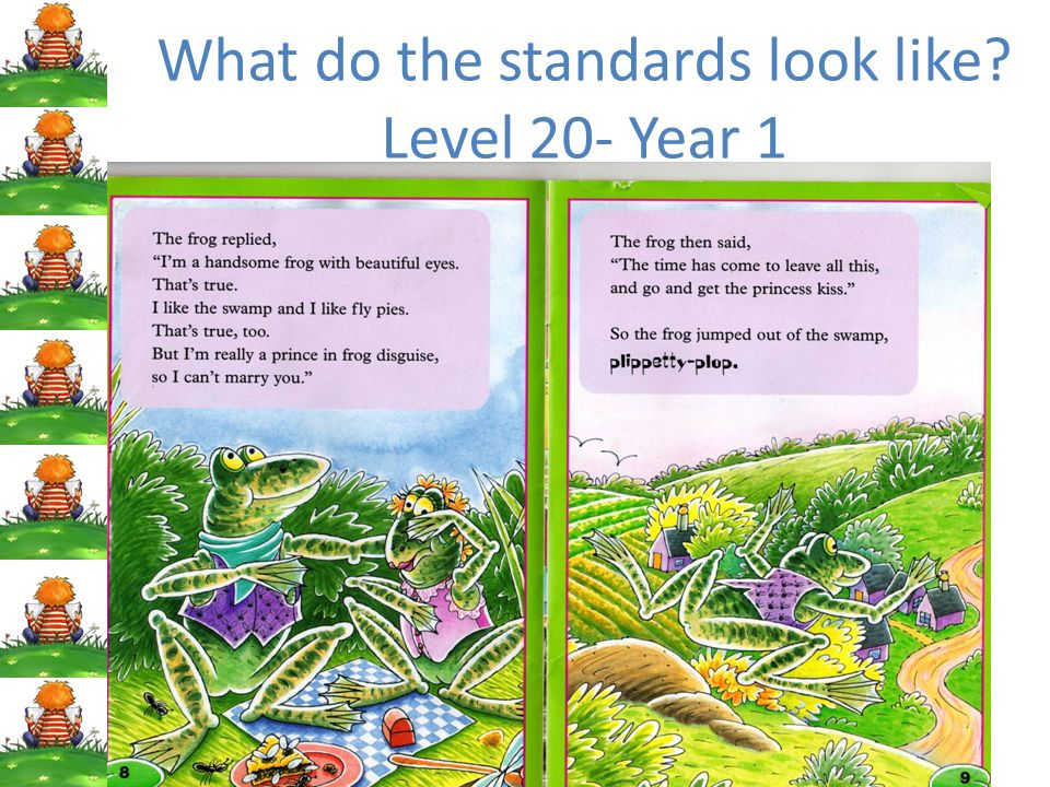 What do the standards look like Level 20- Year 1