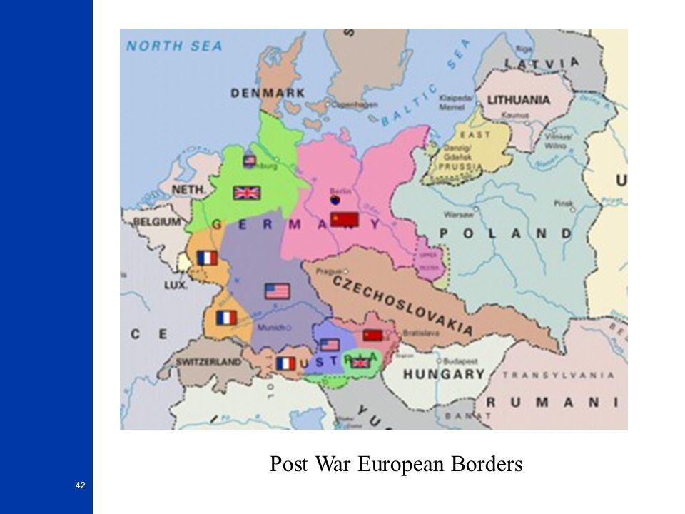 42 Post War European Borders