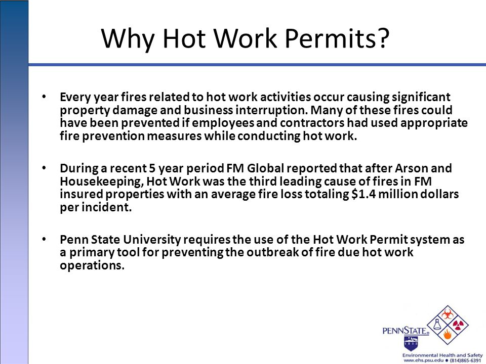 Why Hot Work Permits.