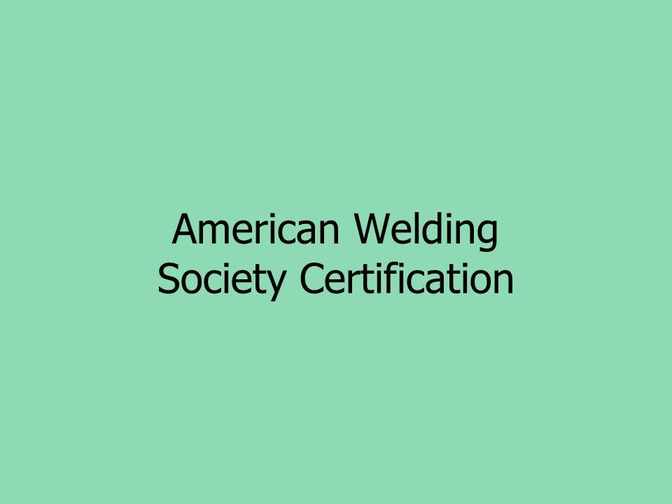 American Welding Society Certification
