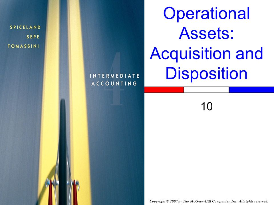 Copyright © 2007 by The McGraw-Hill Companies, Inc. All rights reserved. Operational Assets: Acquisition and Disposition 10 Insert Book Cover Picture