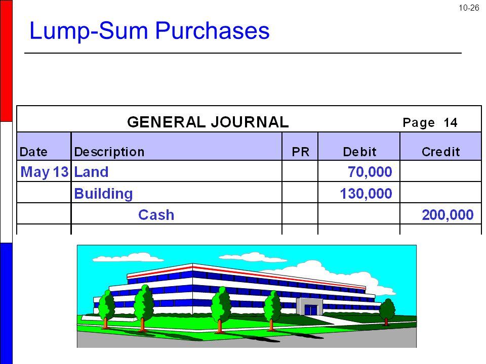 10-26 Lump-Sum Purchases