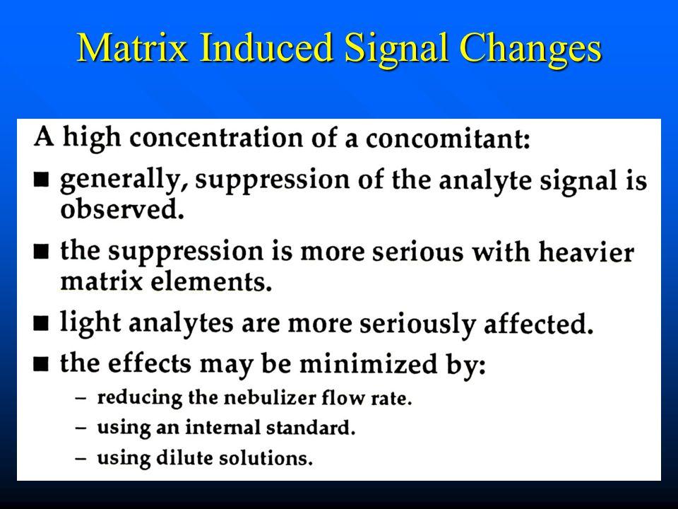 Matrix Induced Signal Changes