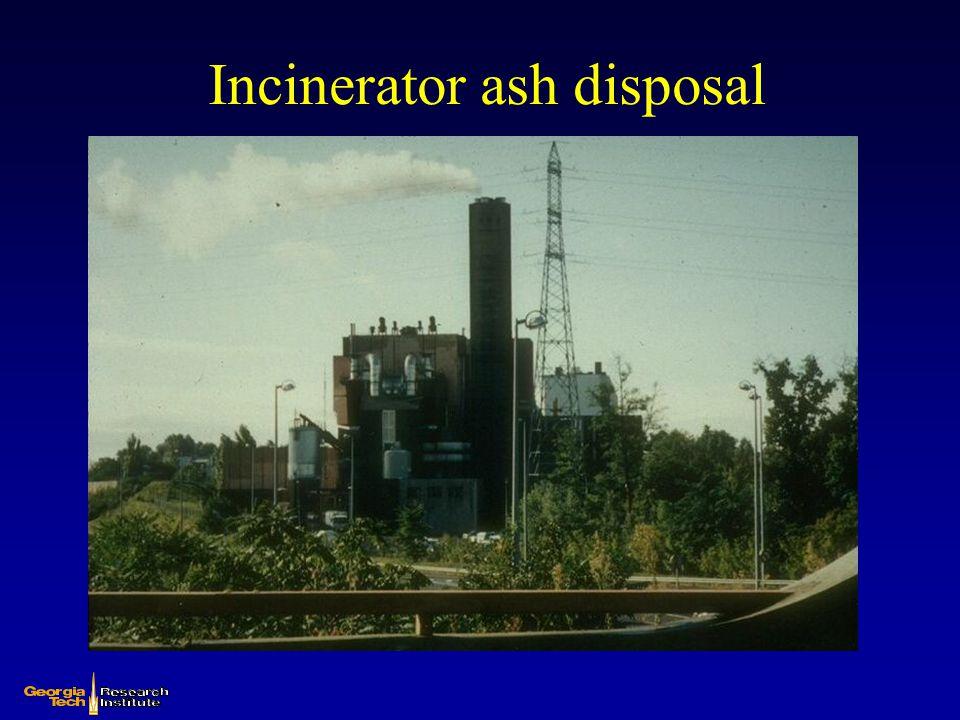 Incinerator ash disposal