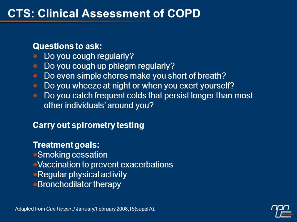 Patients Under-report COPD Exacerbations 1.Seemungal et al.