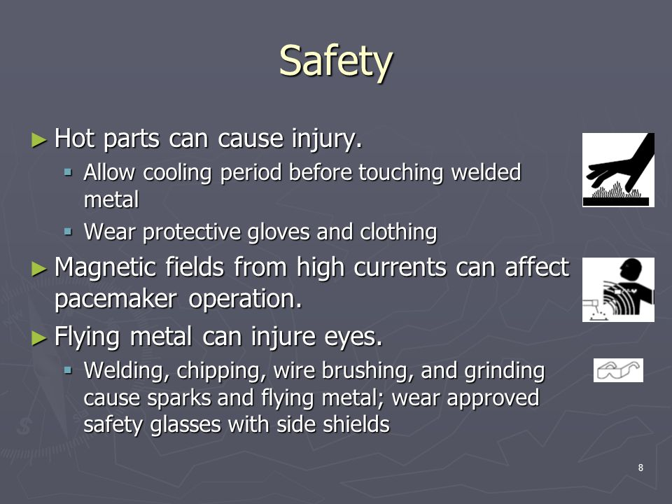 9 Safety ► Welding current can damage electronic parts in vehicles.