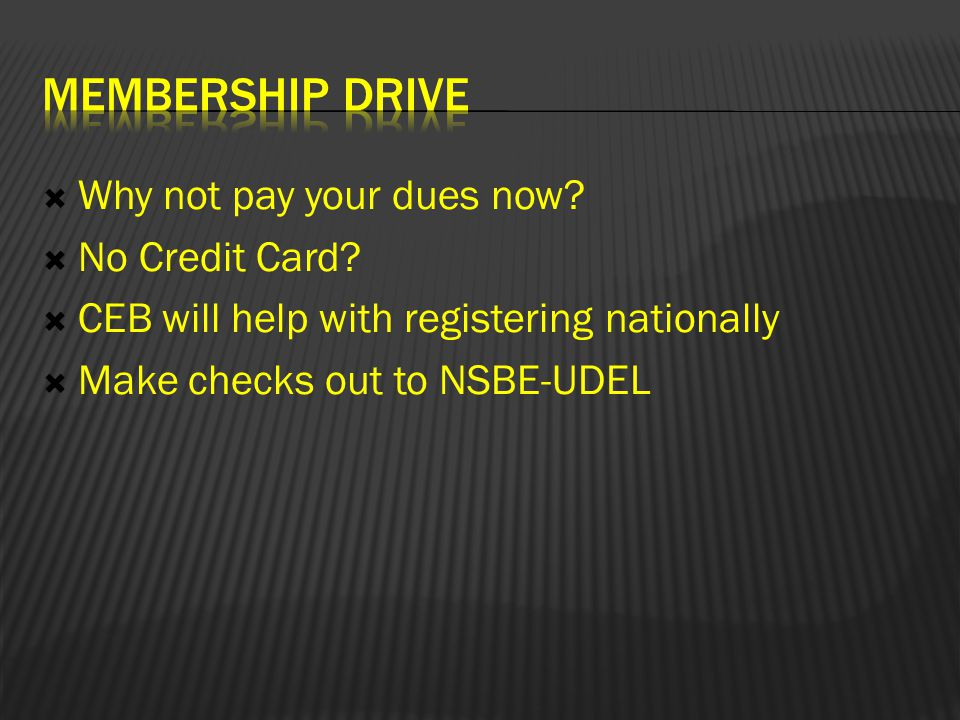  Why not pay your dues now.  No Credit Card.