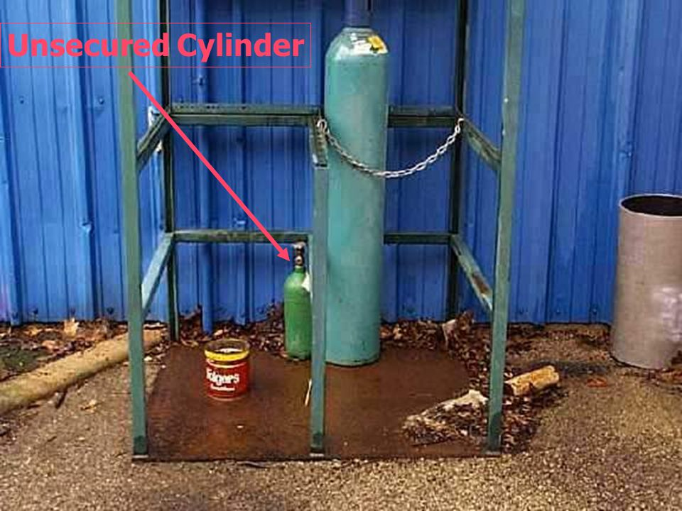 Unsecured cylinder