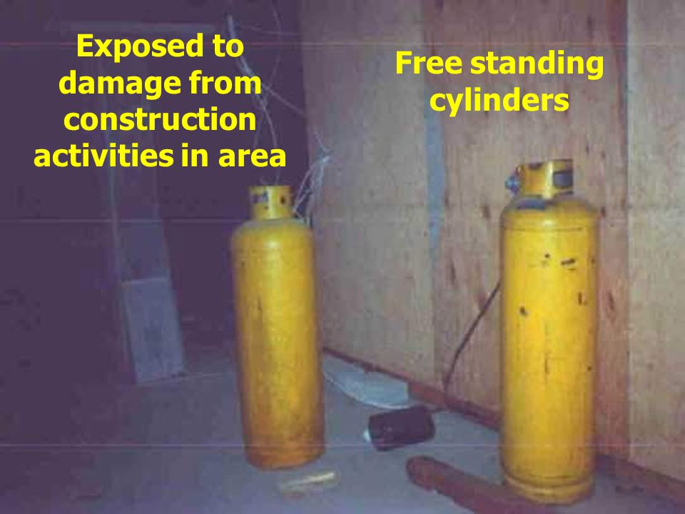Cylinders not secured properly