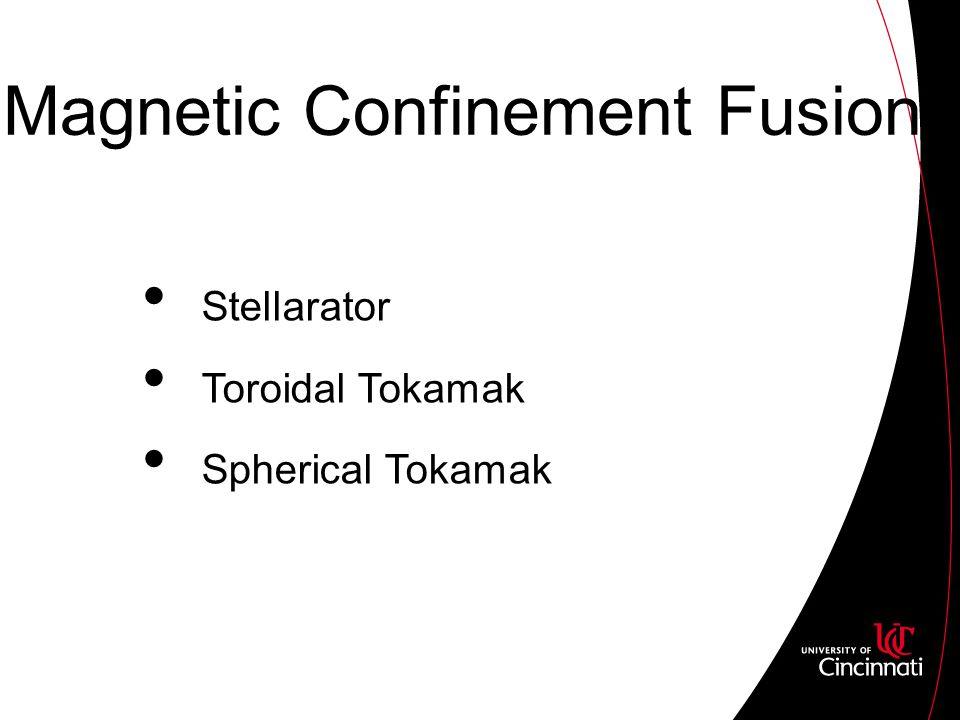 Magnetic Confinement Fusion Stellarator Toroidal Tokamak Spherical Tokamak