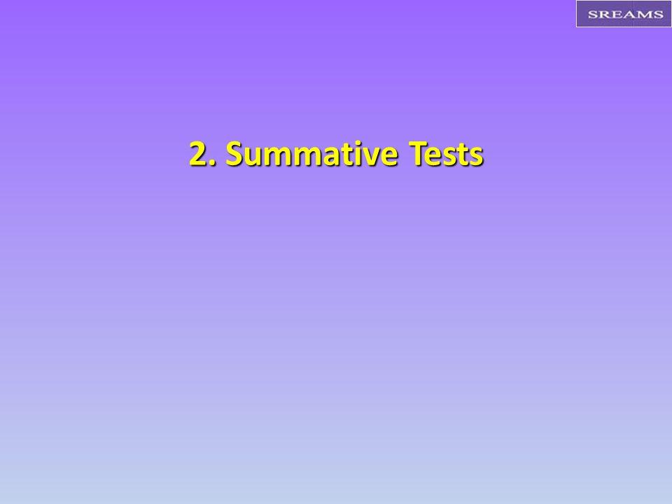 2. Summative Tests