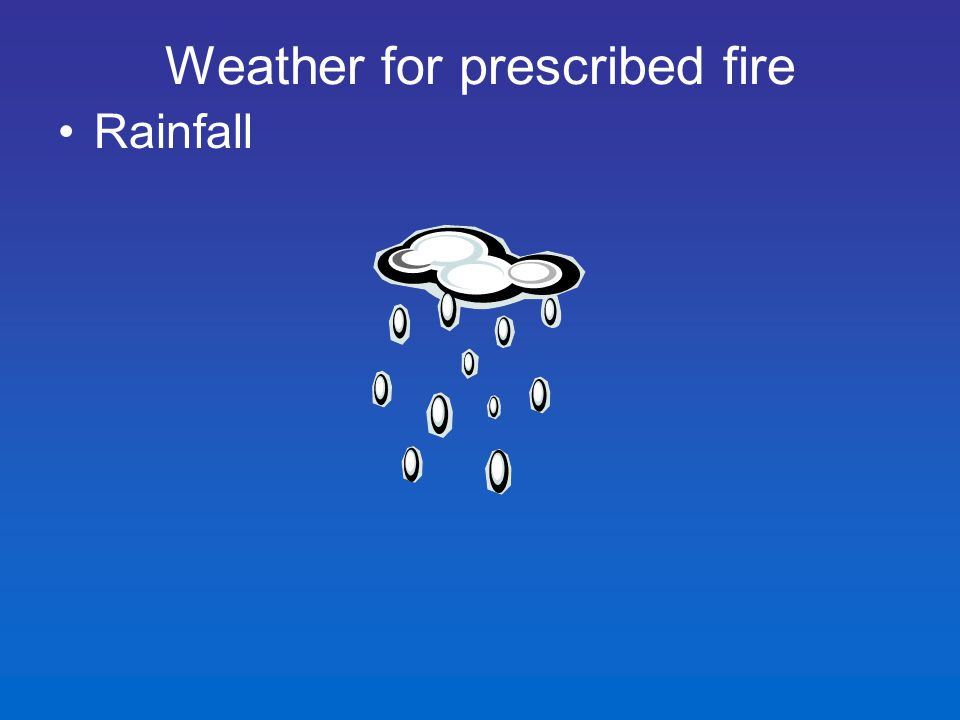 Rainfall Weather for prescribed fire