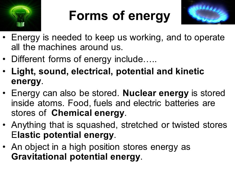 Forms of energy click