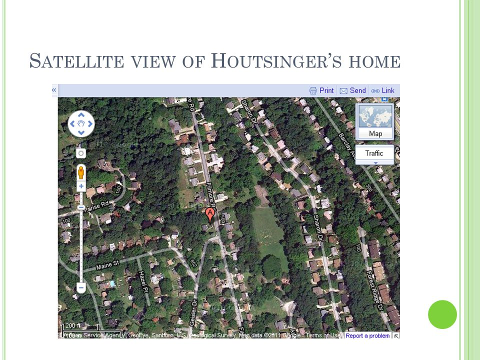 S ATELLITE VIEW OF H OUTSINGER ' S HOME