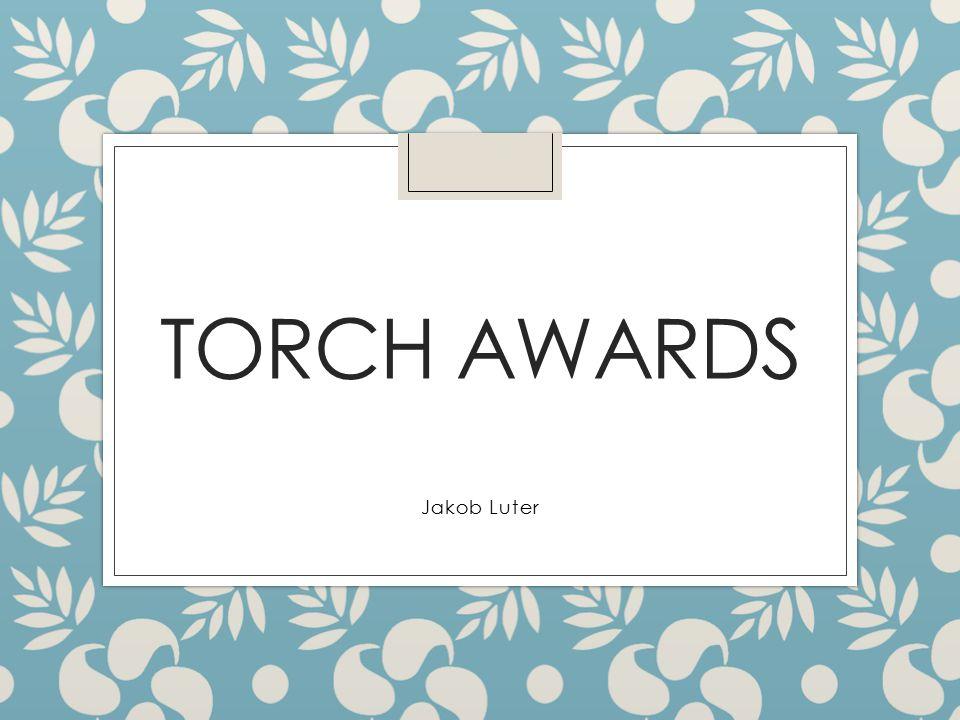 TORCH AWARDS Jakob Luter