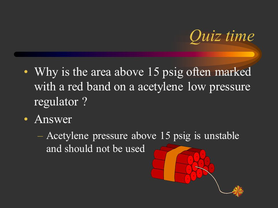 Quiz time The hose nuts for oxygen and acetylene differ greatly, because the acetylene hose nut has. A: a left hand thread. B: has a grove cut around