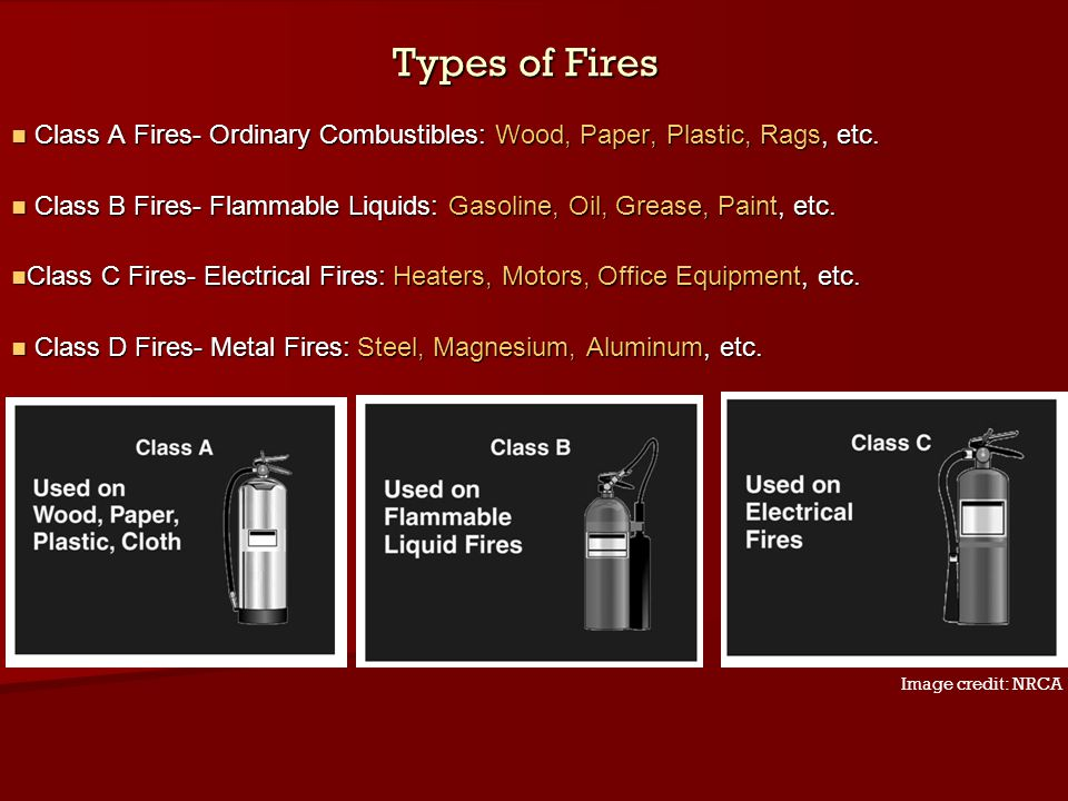Types of Fires Class A Fires- Ordinary Combustibles: Wood, Paper, Plastic, Rags, etc. Class A Fires- Ordinary Combustibles: Wood, Paper, Plastic, Rags