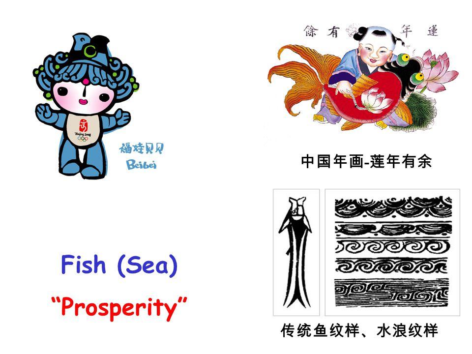Fish (Sea) Prosperity 中国年画 - 莲年有余 传统鱼纹样、水浪纹样