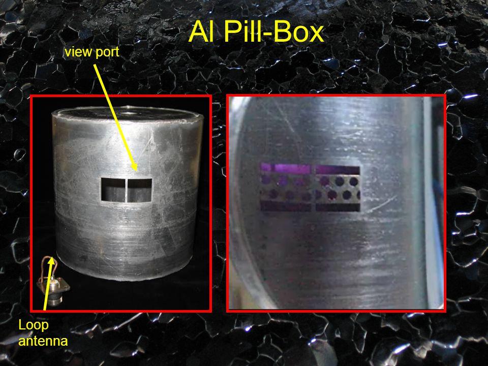 view port Loop antenna Al Pill-Box