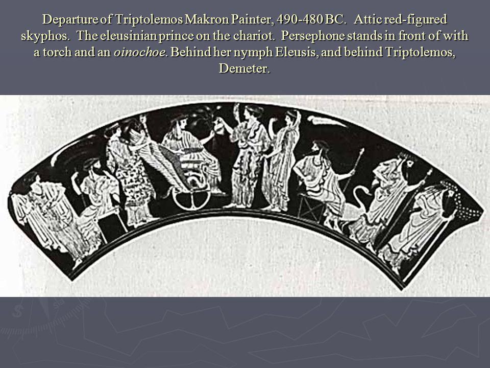 Departure of Triptolemos Makron Painter, 490-480 BC.