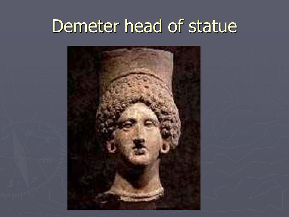 Demeter head of statue