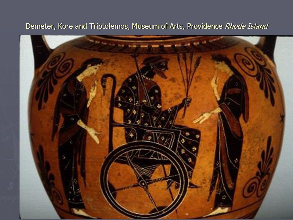 Demeter, Kore and Triptolemos, Museum of Arts, Providence Rhode Island