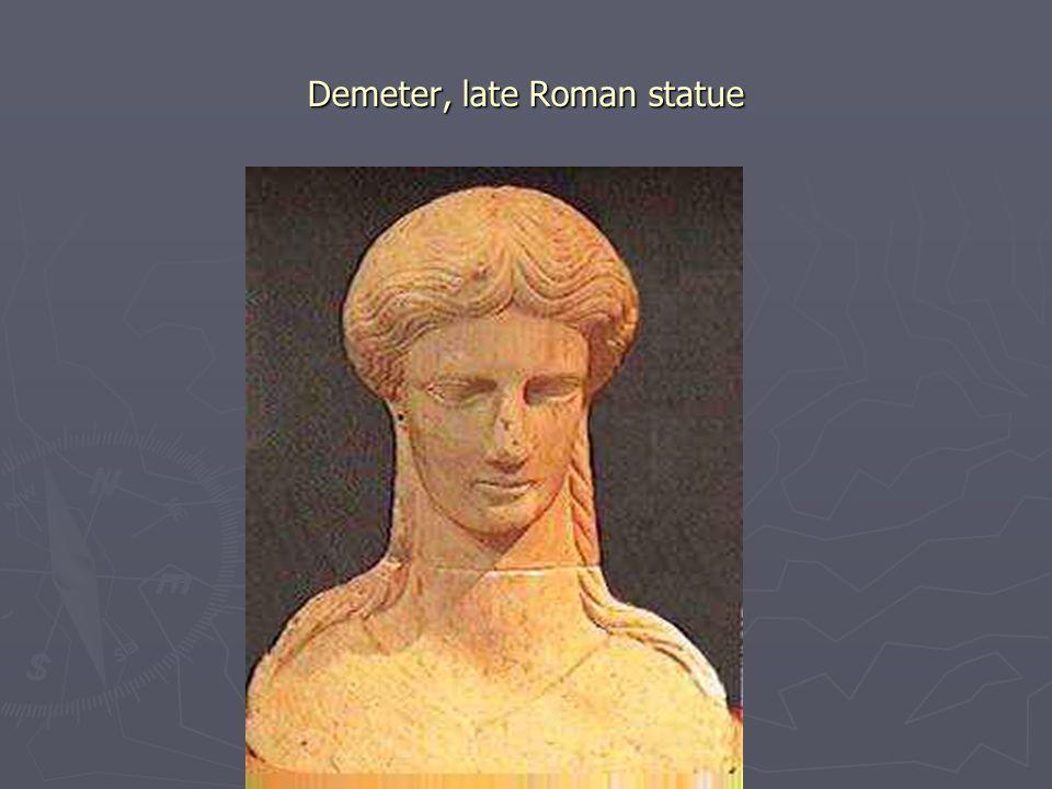 Demeter, late Roman statue