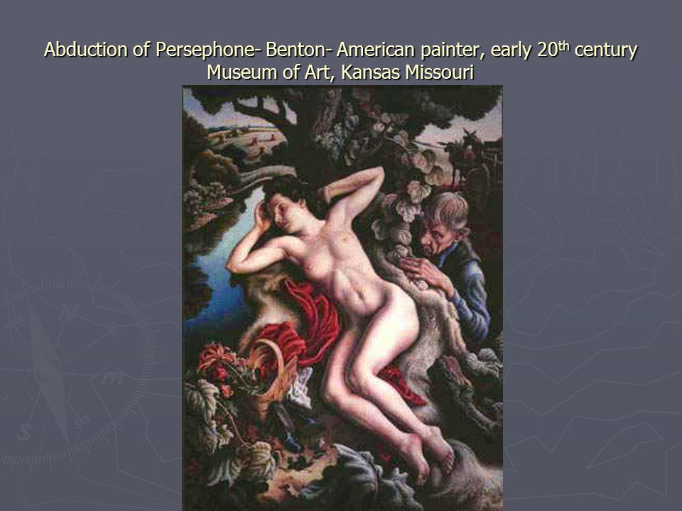 Abduction of Persephone- Benton- American painter, early 20 th century Museum of Art, Kansas Missouri