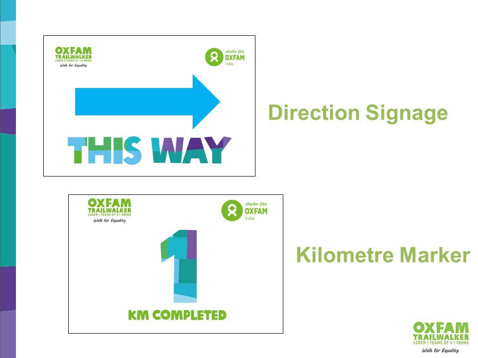 Direction Signage Kilometre Marker