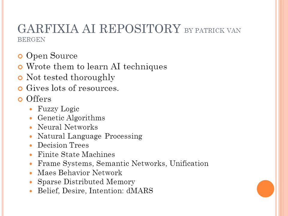 GENETIC ALGORITHMS What was implemented.Interface and classes.