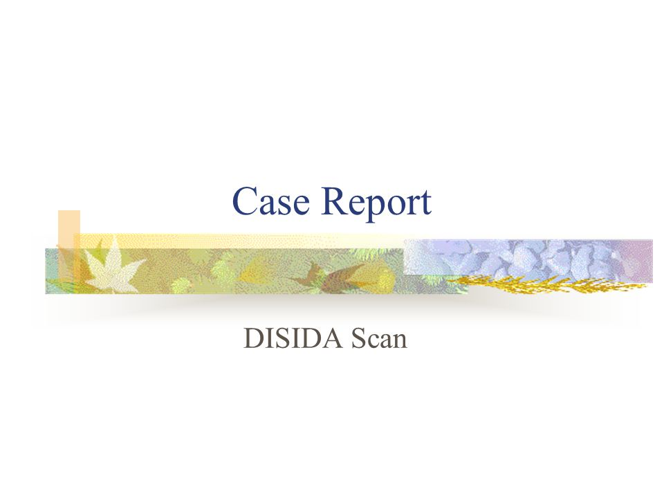 Case Report DISIDA Scan