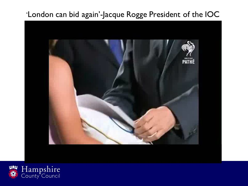 ' London can bid again'-Jacque Rogge President of the IOC