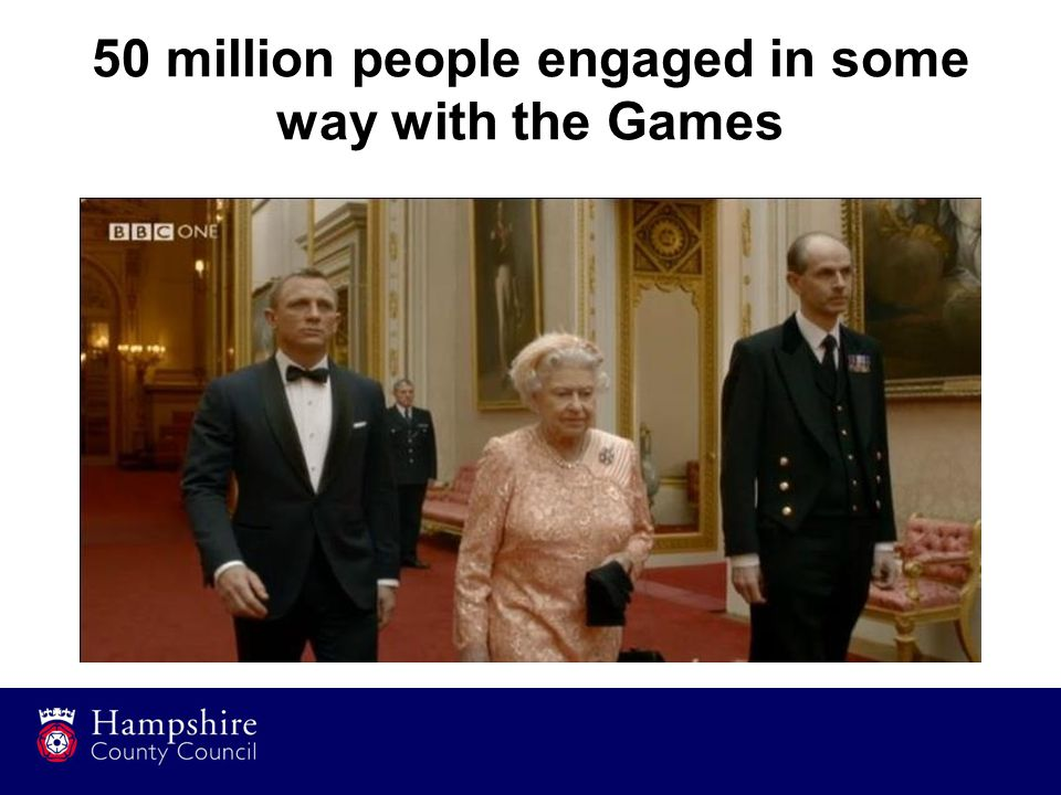 50 million people engaged in some way with the Games