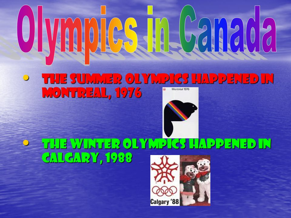 Once the Olympics were interrupted for eight years because of WW ll.