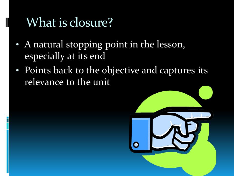 What is closure.