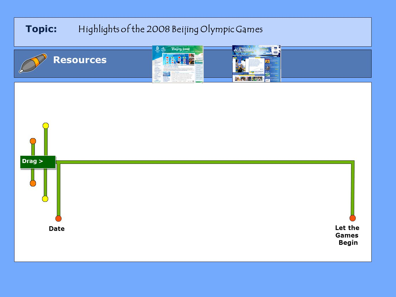 Topic: Resources Date Let the Games Begin Drag > Highlights of the 2008 Beijing Olympic Games