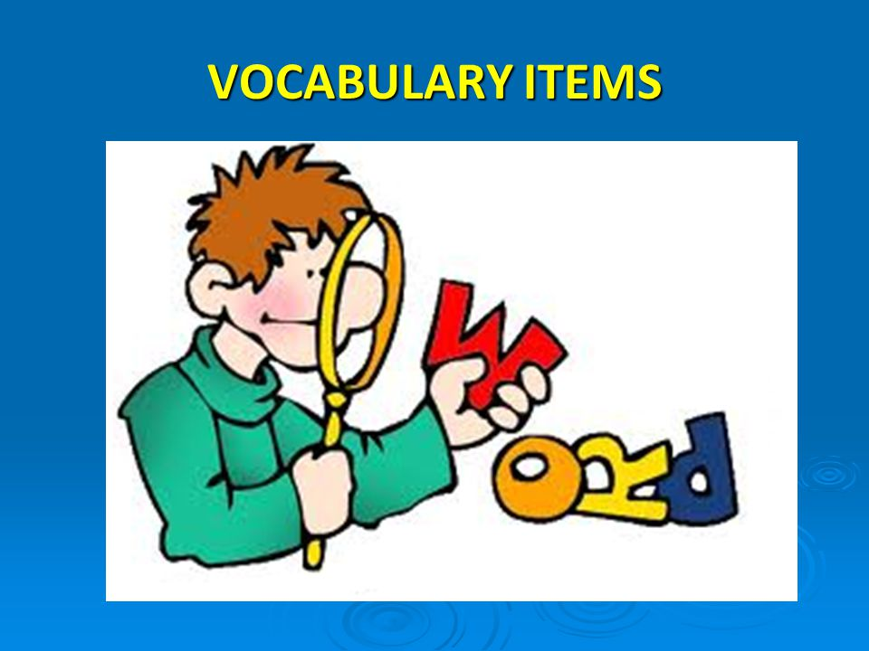 VOCABULARY ITEMS