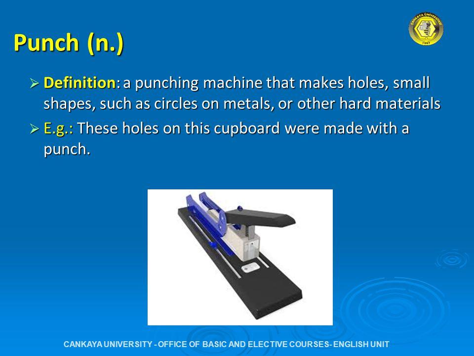 24.1 (p.55) Match the cutting processes 1-4 to the descriptions a- e.