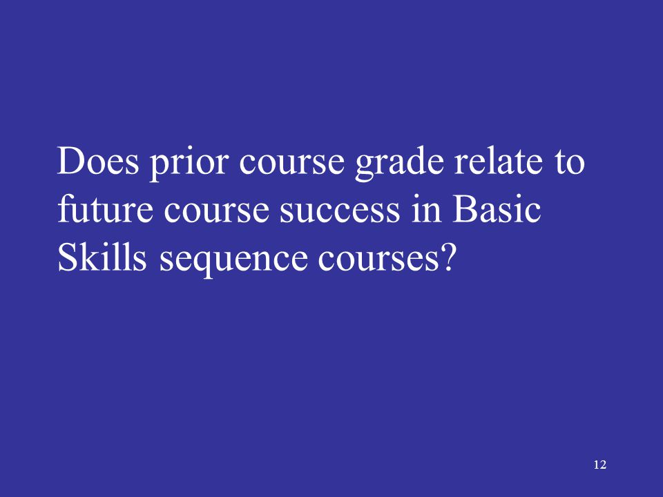 13 Prior Course Grade and Success: Math Data Excerpted from Executive Summary P85